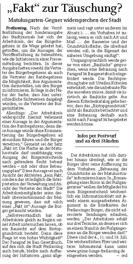 """""""Fakt"""" zur Bürgertäuschung? RTgB von 24.06.2020"""