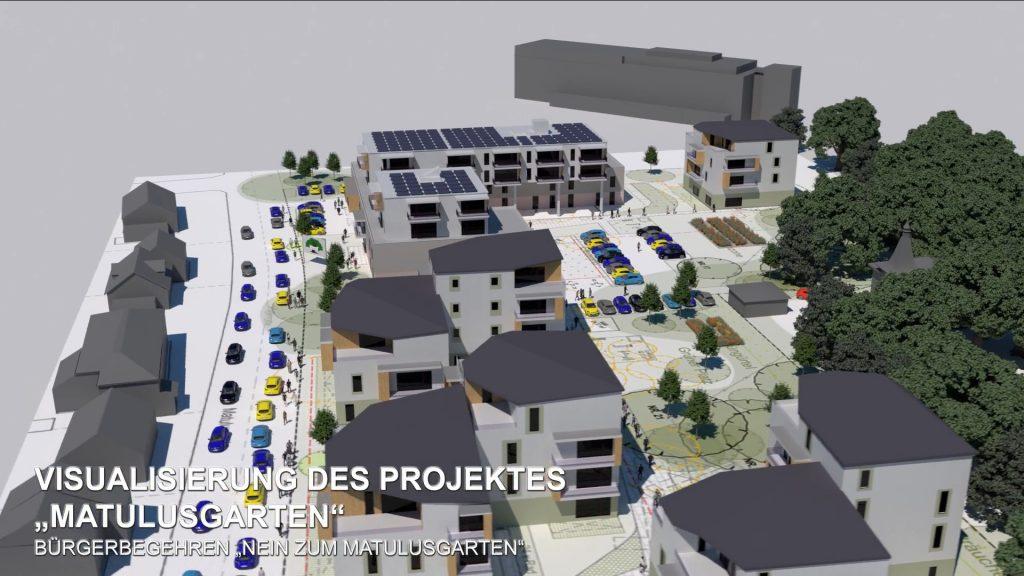 Ansicht Matulusstrasse - Groessenvergleich Bestand - Leuchtturmprojekt