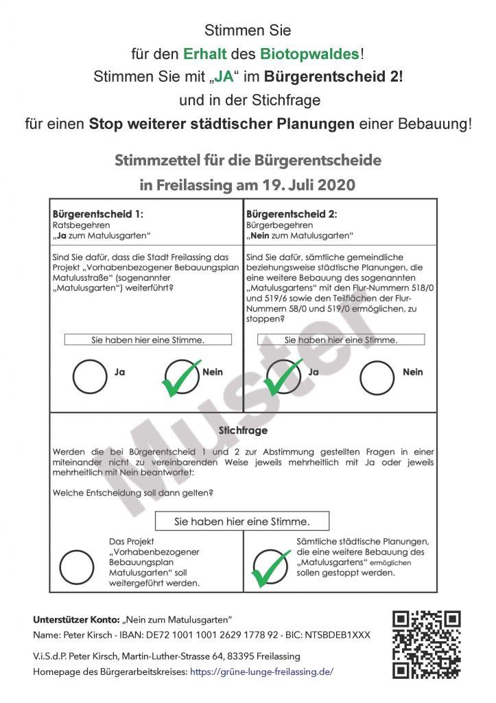 Wenn der Landkreis bestimmt - Stimmzettel