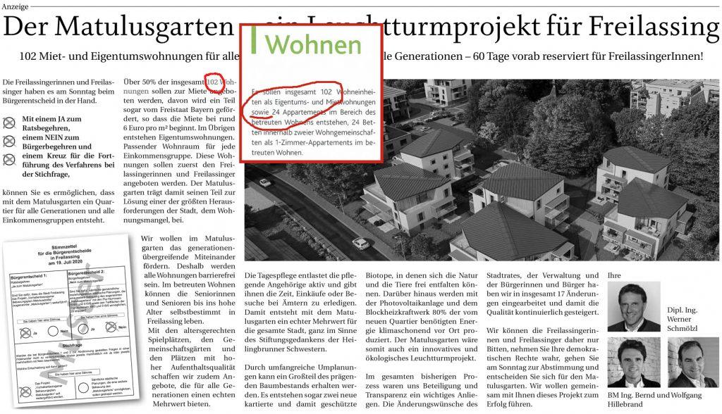 """Ein """"Leuchtturmprojekt""""? 102 Wohnungen? Gelogen? Tippfehler?"""